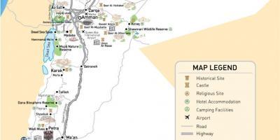 Jordan road map kart over jordan road vest asia asia publicscrutiny Choice Image